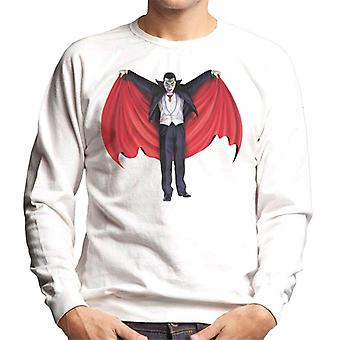 Dracula Cape Full Men's Sweatshirt