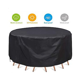 Outdoor Round Table And Chair Dust Cover Round Furniture Waterproof And Dustproof Cover