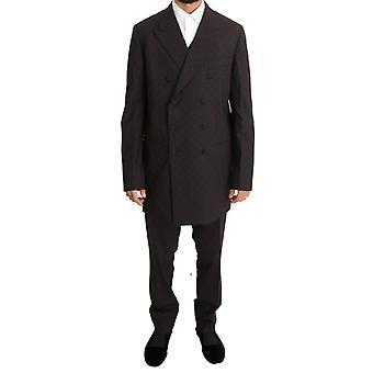 Bordeaux wool stretch long 3 piece12769623