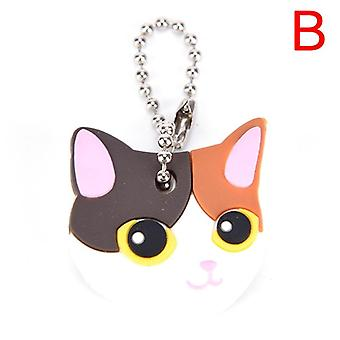 Siliconen Key Ring Cap Case, Lovely Animals Head Shape, Keychain Desk Sets