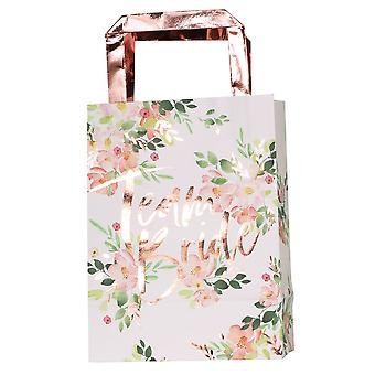 Rose Gold Team Bride Party Bag x 5 for Hen Party
