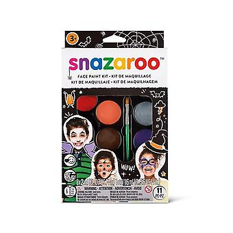 Snazaroo viso vernice palette kit, halloween