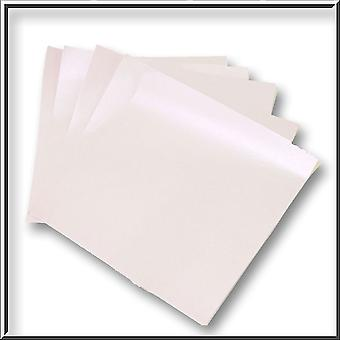 10 Kunzite Pearlescent Double Sided Paper Inserts 130 x 130 mm