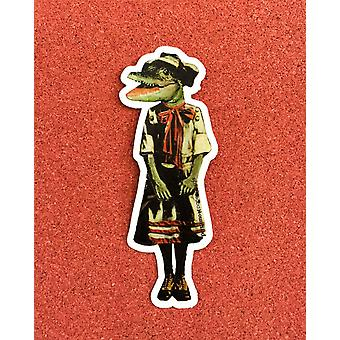 Alligator Klistermärke Bow Gator