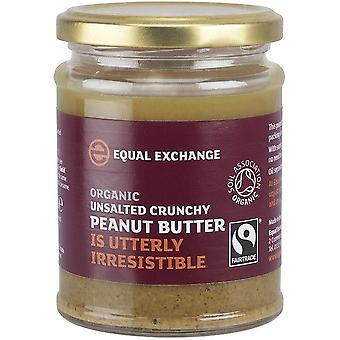 Equal Exchange Organic & Fairtrade Crunch Peanut Butter Unsalted 280gx6