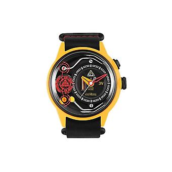 The Electricianz ZZ-A1A/01 The Ammeter Yellow & Black Leather Watch