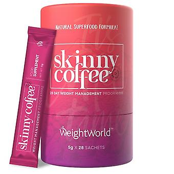 Skinny Coffee - 28 Day Slimming Coffee Blend - All Natural Herbal Ingredients - 10 Calories Per Serving - With Arabian Beans - WeightWorld - 90g