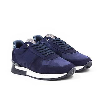 Unlike Humans Surge Runner Stealth Camo Trainers - Navy