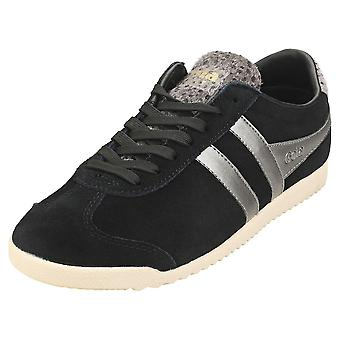 Gola Bullet Savanna Womens Casual Trainers in Black Cheetah