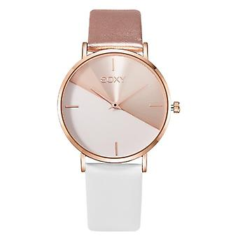 Top Brand, Leather, Rose Gold Dress Female Clock Luxury Brand Simple Fashion