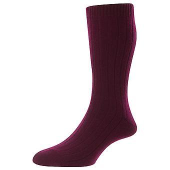 Pantherella Waddington Cashmere Socks - Port Red