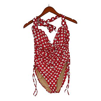 Sun Kitten Swimwear Swimsuit The Housewife One-Piece Dot Red A379964