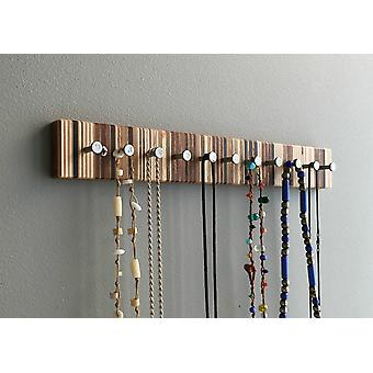 Modern Wood Jewelry Rack