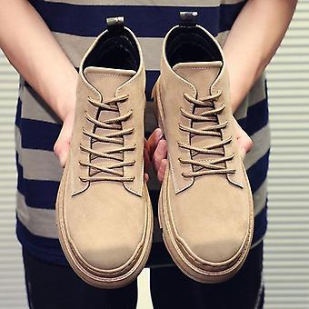الخريف الشتاء الأحذية بو الجلود ماء الخشب الأحذية الأرض سميكة القاع