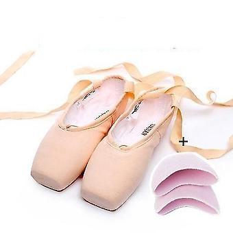 الشريط المرأة & apos;ق الوردي أحذية الباليه المهنية