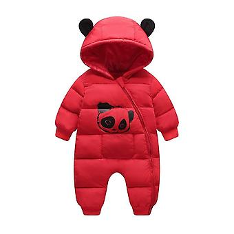 Baby Clothes Winter Hooded Rompers Cotton Outfit Jumpsuit Costume Toddler