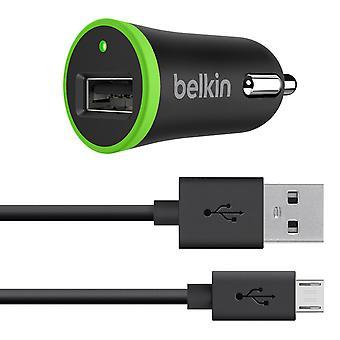 Καθολικός φορτιστής αυτοκινήτων Belkin με το καλώδιο Micro USB ChargeSync (10 Watt/ 2.1 amp)