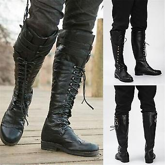 Lace Up  Knight Cosplay Retro Steampunk Renaissance Costume Boots