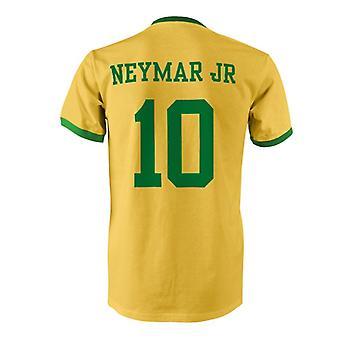 Neymar JR 10 Brazil Country Ringer T-Shirt