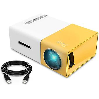 Mini Projector, YG300 Portable Pico Full Color LED LCD Video Projector