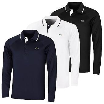 Lacoste Herren 2021 DH4758 gerippten Kragen Raglan Langarm Polo Shirt