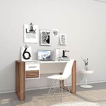 Farley White Desk, Melamina Chipboard Wood, L110xP60xA75 cm