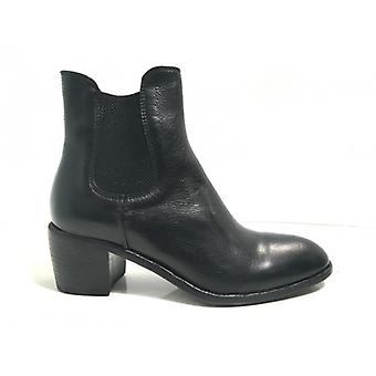 Shoes Women's Horse Tc 60 Black Leather Elastic Ankle Boot Hand Made D17ca01