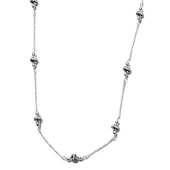 Womens Station Necklace Jewellery Stamped Sterling Silver 18''