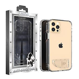 iPhone 12 Pro Max Hoesje Transparant - AntiShock en Standaard