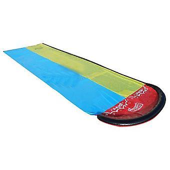Lapset Double Surf Water Slide Ulkona Puutarha Kilpa Nurmikko Vesi Liuku spray