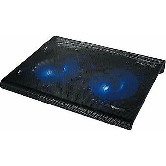 """Trust Azul Cooling Pad with 2 Illuminated Fans, Fits Up to 17.3"""" Black - 20104"""