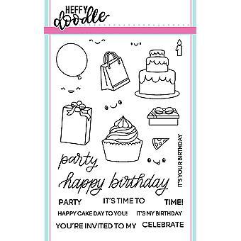 Heffy Doodle Party Palooza Sellos claros
