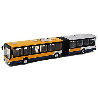 Alloy Longed Double-section Bus Special No. 1 Bus Pull Back Sound Light Car Modelo brinquedo infantil