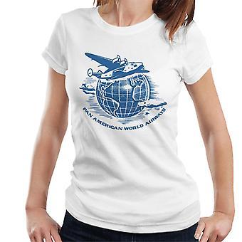 Pan Am volando alrededor de la camiseta de las mujeres del mundo