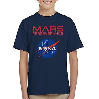 NASA Logo Mars Perseverance Kid's T-Shirt