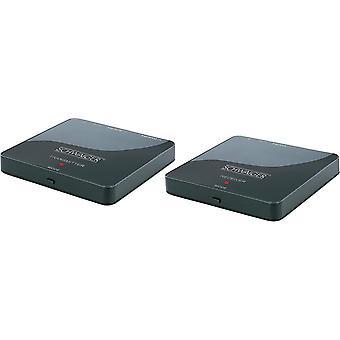 SCHWAIGER -HDFS100 511- HDMI-Funk-Set | ein Empfänger auf zwei Fernseher | 1080p HD Auflsung | 1x