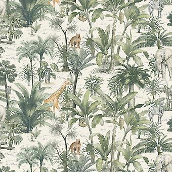 African Safari Wallpaper Multi Muriva 176501