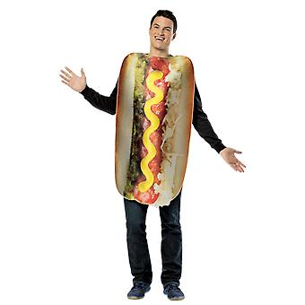 Adult Loaded Hot Dog Food Novelty Funny Fancy Dress Costume