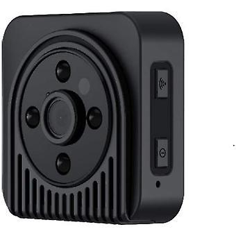 WiFi IP Skjult kamera Trådløs videooptager Nattesyn Overvågningskamera Mini Videokamera (sort)