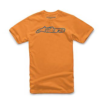 Alpinestars Men's T-Shirt ~ Blaze Classic orange blue