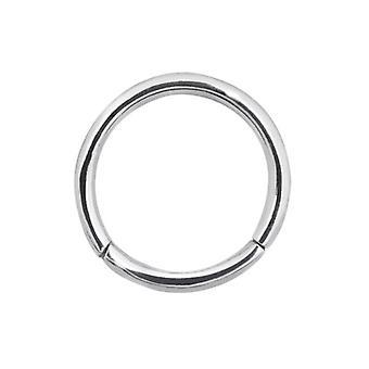 Sømløse hængslede ringe 16g - 8mm kirurgisk stål