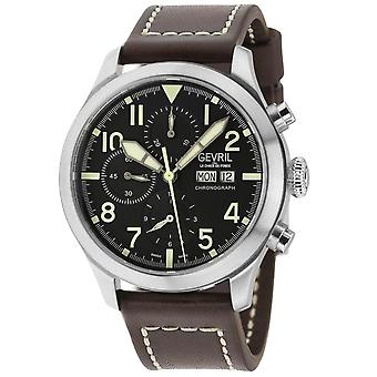 Gevril Men's Vaughn automaattinen kronografi musta watch