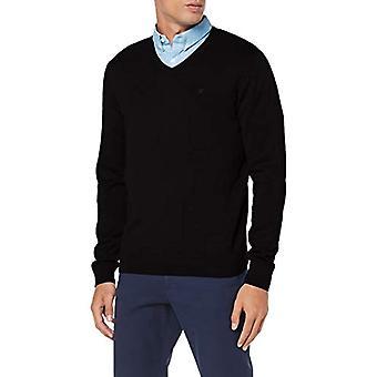 Tom Tailor V-Neck Sweatshirt, Black (29999), Small Man