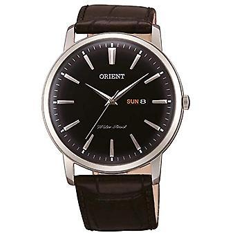 Orient Analog Watch Men's Quartz with Leather Strap FUG1R002B6