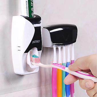 Distributeur automatique de dentifrice Support mural Anti-poussière Porte-brosse à dents support mural Support de rangement