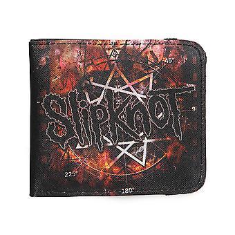 Rock Sax Slipknot Plånbok Mens   Pentagram Band Logo Svart Dubbelväska   Musikfestivaler Merchandise   En storlek