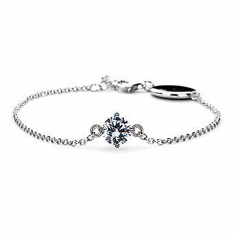 April Crystal/Diamond Birthstone Bracelet - 16cm + 2cm extender - Jewellery Gifts for Women from Lu Bella