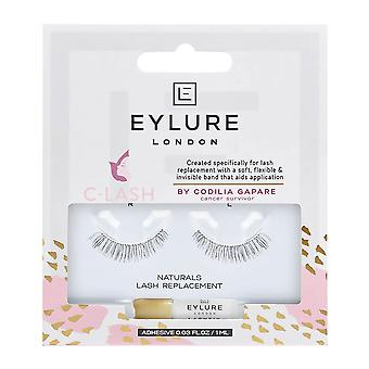 Eylure False Eyelashes - C-lash - Naturals Lash Replacement (adhesive Included (1ml)