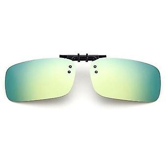 Polarize Aynalı Uv400 Lens Klipsleri Güneş Gözlüğü Sürüş Gece Görüşü