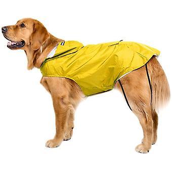 Hunde Regenmantel Wasserdicht Hundemantel Groß Gefüttert Ultraleichte Atmungsaktive Hundejacke